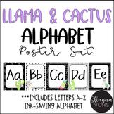 Llama and Cactus Alphabet Posters