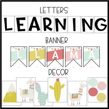 Llama and Cactus Bulletin Board or Door Kit