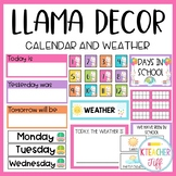 Llama and Cactus Classroom Decor: Calendar and Weather