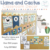 Llama Classroom Decor Fully Editable Theme Cactus Decor