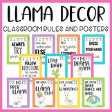 Llama and Cactus Classroom Decor: Rules and Quote Posters