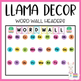 Llama and Cactus Classroom Decor: Word Wall Headers