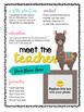 Llama and Cactus Editable Meet the Teacher Templates