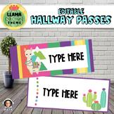 Llama and Cactus FREE Editable Hallway Passes