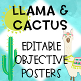 Llama and Cactus Learning Target and Objective Headers Editable