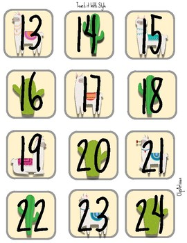 Llama and Cactus Numbers for Calendar
