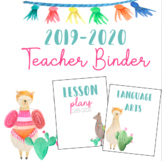 Llama and Cactus Binder/Planner 2018-2019 **Editable**
