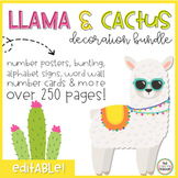 Llama and Cactus Themed Decor Pack