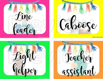 Llama and Cactus class jobs chart pieces EDITABLE