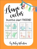 Llama and cactus incentive charts FREEBIE