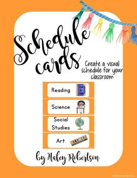 Llama and cactus schedule cards *orange set*
