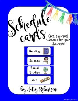 Llama and cactus schedule cards *blue set*