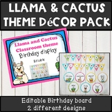 Llama and cactus theme classroom decor Birthday display pa
