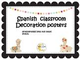 Llama classroom  decor  Spanish Greetings and polite words