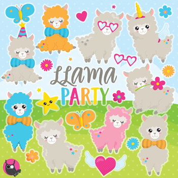 Llama clipart commercial use, vector graphics  - CL1087
