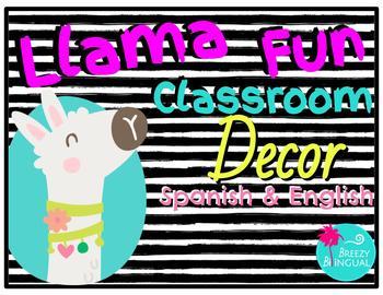 Llama fun classroom decor