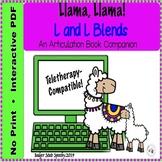Articulation book companion L sound Llama, llama