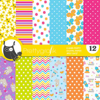 Llama papers, commercial use, scrapbook papers - PS864