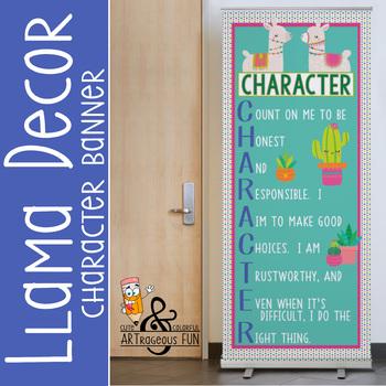 Llama theme - Classroom Decor: LARGE  BANNER - Character