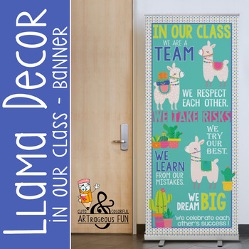 Llama theme - Classroom Decor: LARGE  BANNER - In Our Class