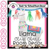Llama Classroom Decor - Behavior Clip Chart