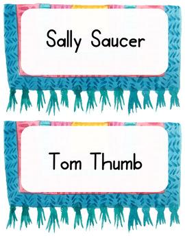 Llama Classroom Decor - Name Tags