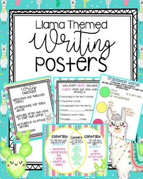 Llama themed Writing Posters & text structures