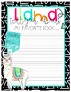 Llama themed bulletin board and resources for your reading corner