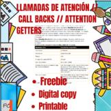 Llamados para atencion/ Call backs