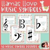 Llamas & Cacti Music Symbol Posters {Music Class Decor}