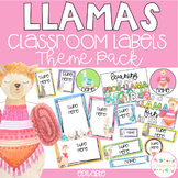 Llamas Classroom Theme Pack - Editable Name Tags, Labels and Posters