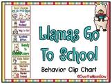 Llamas Go to School | Behavior Clip Chart