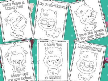 Llamas Love Birthday - The Crayon Crowd Coloring Pages, Llama