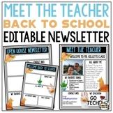 Llamas Meet the Teacher Template EDITABLE Newsletter