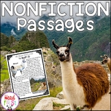 Llamas Nonfiction Guided Reading Passages with Comprehension and Fluency