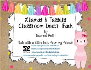 Llamas & Tassels Classroom Decor Pack {Editable}