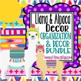 Llamas and Alpacas Themed Classroom Decor Bundle *most items editable*