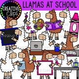 Llamas at School Clipart {Creative Clips Clipart}