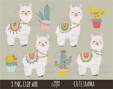 Llamas clipart, alpaca clipart, llama clipart, lama clipar