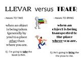 Llevar v Traer - the difference
