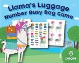 Lllama Luggage Number Busy Bag Game, Preschool, Kindergart