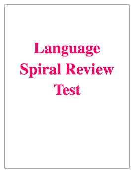 Lnaguage Spiral Review Assessment