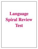 Lnaguage Spiral Review Assessment