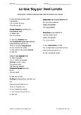 Lo Que Soy - Ser/Tener Cloze Activity