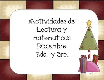 Navidad- Diciembre actividades de Lectura y Matemáticas  2do-3ro