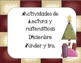 Navidad- Diciembre actividades de Lectura y Matemáticas  Kinder-1ro