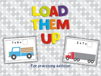 Load Them Up!  (Activity cards for practicing single digit
