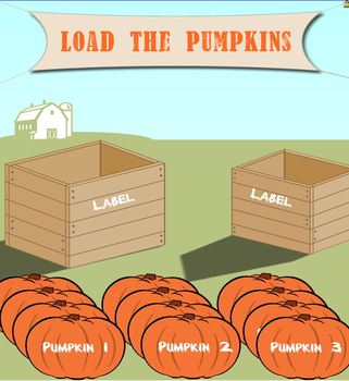 Load the Pumpkins - SMART Notebook Sorting Activity - Fall