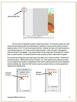 Load the Pumpkins - SMART Notebook Sorting Activity - Fall
