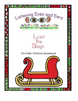 Load the Sleigh File Folder Game